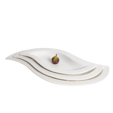 Load image into Gallery viewer, White Porcelain Wave Shape Serving Platters IEP