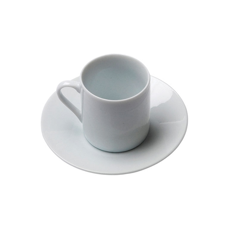 White Porcelain Demitasse Espresso Cup with Saucer IEP