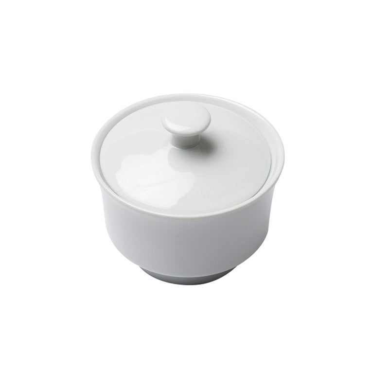 White Porcelain Sugar Bowl with Lid IEP