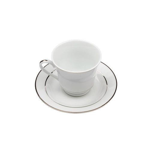 Porcelain Footed Style Coffee Cup with Saucer IEP
