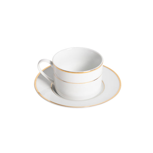 Porcelain Barrel Style Coffee Cup with Saucer IEP