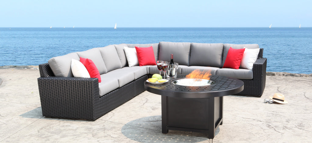 brighton sectional collection by cabana coast patio palace rh patiopalace com coastal outdoor furniture sets with fire pit coastal outdoor furniture on sale