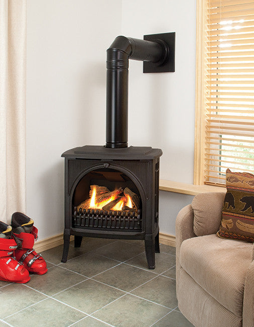 Valor Freestanding Gas Fireplaces - designed for an inglenook