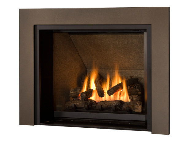 Valor Direct Vent 1200 Ventana Series Gas Fireplace - Log Set / Clean Face