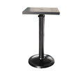 "Monaco Bar Table by Cabana Coast - 24"" Square Pedestal Table - Dark Rum"