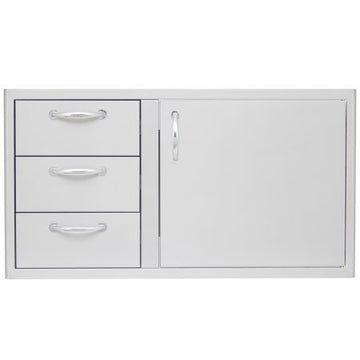 BLAZE 39 INCH ACCESS DOOR AND TRIPLE DRAWER COMBO  BLZ-DDC-39-R