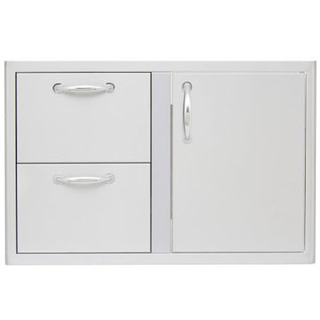 BLAZE 32 INCH ACCESS DOOR & DOUBLE DRAWER COMBO BLZ-DDC-R