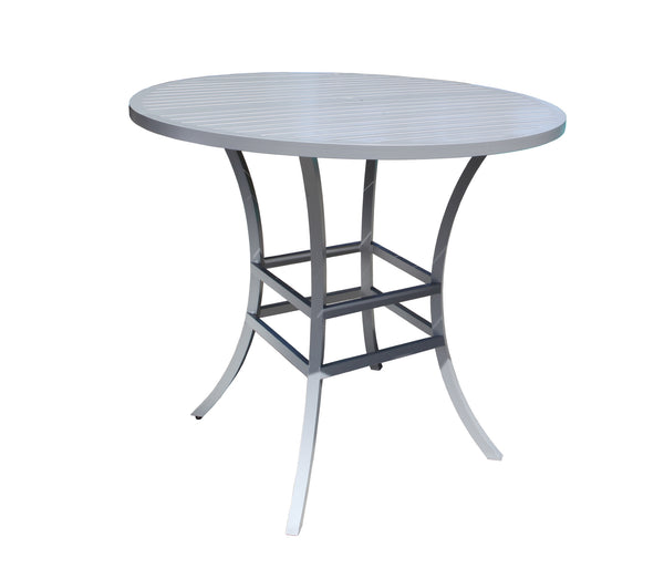 "Monaco Bar Table by Cabana Coast - 42"" Round Table - Dark Rum"