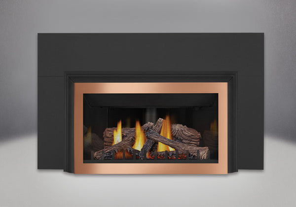 Napoleon Gas Fireplace GDIZC with Brushed Copper Faceplate
