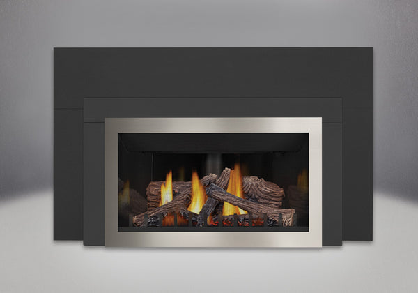 Napoleon Gas Fireplace GDIZC with Contemporary Trim Kit
