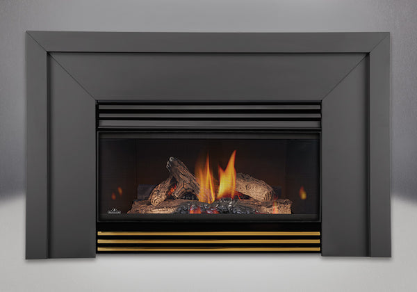 Napoleon Gas Fireplace GI 3600 with Lower Louvres- Polished Brass Finish
