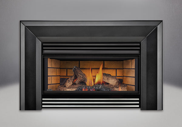 Napoleon Gas Fireplace GI 3600 with Decorative Sandstone Brick Panels
