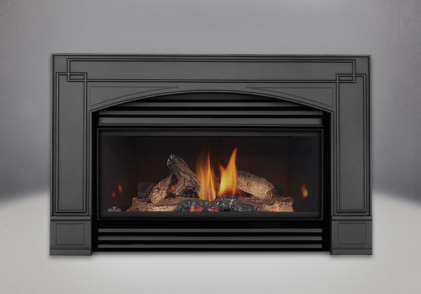 Napoleon Gas Fireplace GI 3600 with Arched Cast Iron Surround