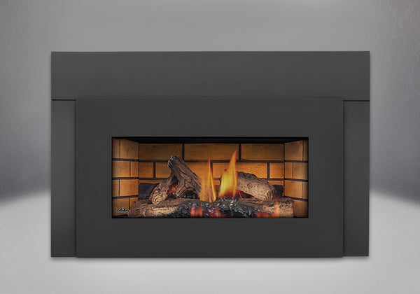 Napoleon Gas Fireplace GI 3600 with Painted Black Faceplate