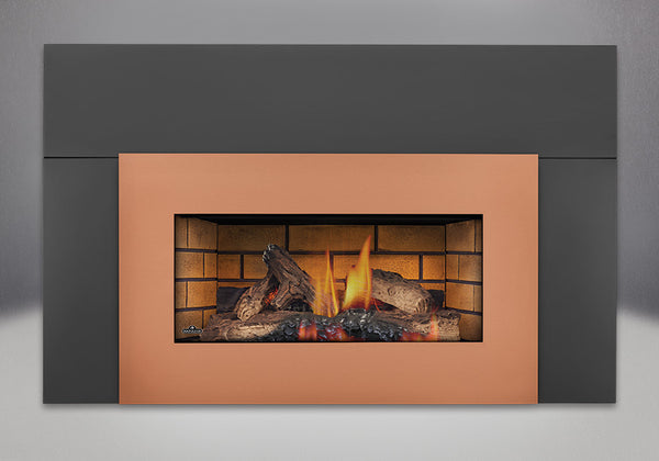 Napoleon Gas Fireplace GI 3600 with Brushed Copper Faceplate
