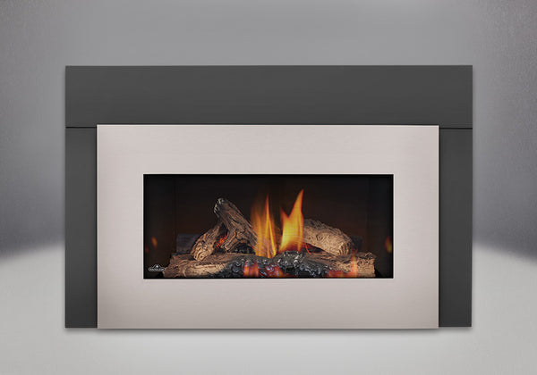 Napoleon Gas Fireplace GI 3600 with Brushed Nickel Faceplate
