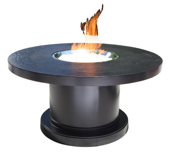 "48"" Round  Venice Chat Firepit by Cabana Coast - Dark Rum"