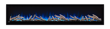 "Napoleon Alluravision 74"" Deep Depth Electric Fireplace"