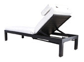 Apex Deep Seat Single Chaise Lounge by Cabana Coast - Dark Rum