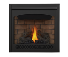 Napoleon Direct Vent Gas Fireplace - Ascent 42 B42 - Heritage Decorative Trim