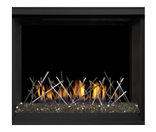 Napoleon Direct Vent Gas Fireplace - BHD4 Ascent Multi-view 40 - Designer Fine Art - Nickel Stix