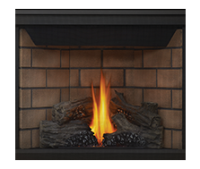 Napoleon Direct Vent Gas Fireplace - BHD4 Ascent Multi-view 40 - PHAZER Log Set