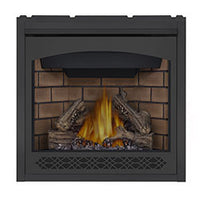 Napoleon Direct Vent Fireplace - Ascent X 36 GX36 - Heritage Decorative Front