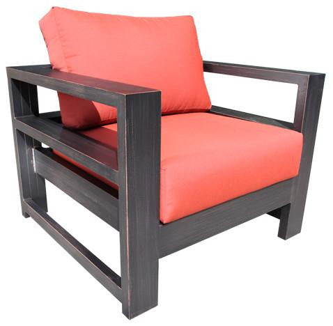 Cabana Coast Aura Deep Seat. Aluminum Patio Furniture