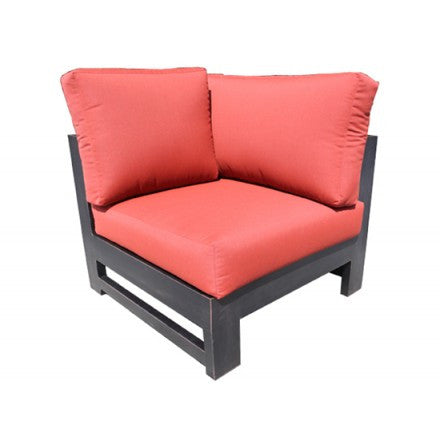Aura Sectional Corner Chair Dove Cast Aluminum