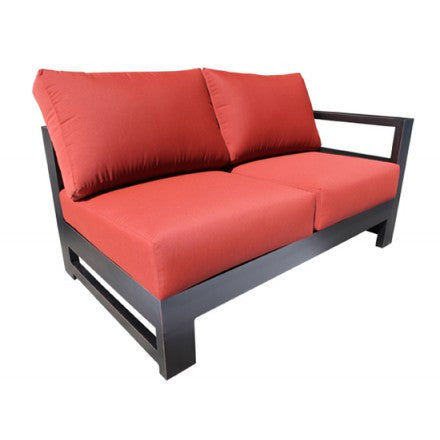 Aura Sectional Right Loveseat Module Dove Cast Aluminum