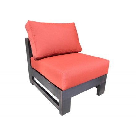 Aura Sectional Slipper Chair Dove Cast Aluminum