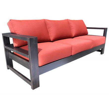 Aura Deep Seat Sofa Dove Cast Aluminum