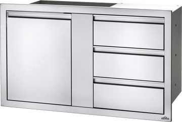 "Napoleon Built in Components - 36"" X 24"" Single Door & Triple Drawer Combo"