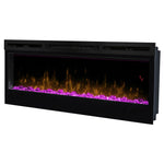 "Dimplex Prism 50"" Wall Mount Electric Fireplace - Pink Light 