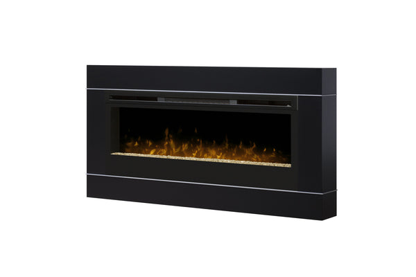 Cohesion Wall Mount Surround For Electric Fireplace Black Finish  | Patio Palace