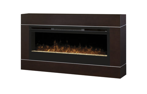 Dimplex Cohesion Wall Mount Surround For Electric Fireplace Walnut Finish | Patio Palace