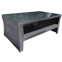 "Bimini Deep Seat 42"" Rectangular Coffee Table Saddle Wicker"