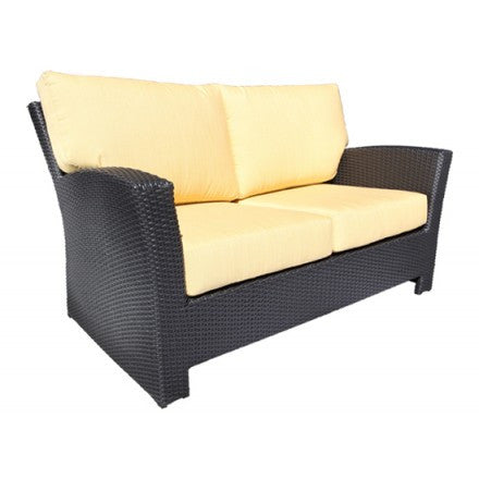 Bimini Deep Seat Loveseat Saddle Wicker