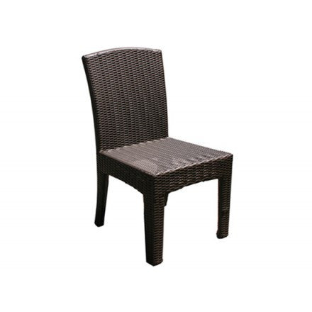 Bimini Dining  Side Chair Wicker Saddle Frame