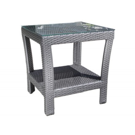 "Bimini Deep Seat 21"" Square Side Table Saddle Wicker"
