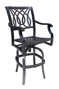Cabana Coast Bloom Bar Stool in Foster. Outdoor Bar Set
