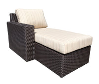 Left Arm outdoor wicker sectional Chaise lounge