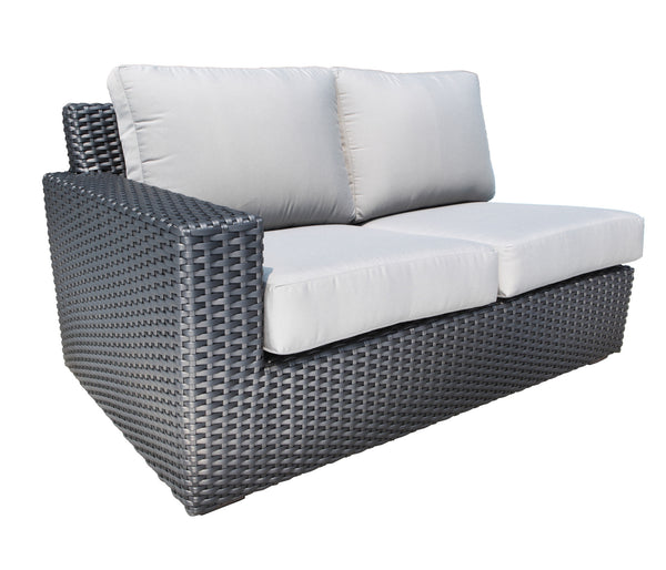 Right outdoor wicker sectional module Cabana Coast