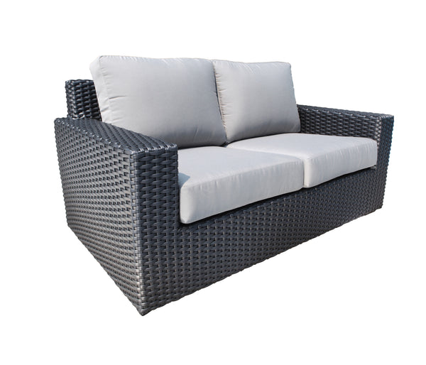 Brighton Love seat outdoor Wicker by Cabana Coast