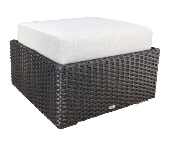 Brighton outdoor Wicker Ottoman By Cabana Coast