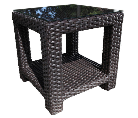 Brighton Side Table outdoor Wicker by Cabana Coast