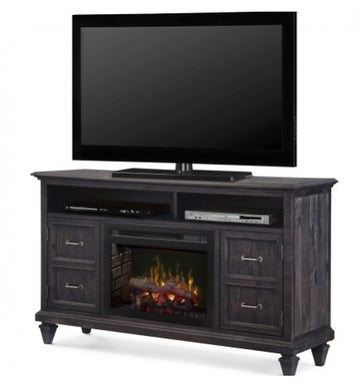 Solomon Media Console Electric Fireplace