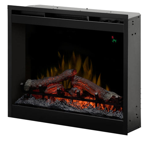 "26"" Dimplex Electric Fireplace Insert with Log burner 