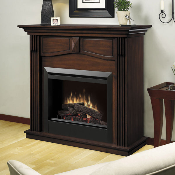 Holbrook Mantel Electric Fireplace Room Display