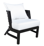 Delano Accent Chair Dark Rum Finish